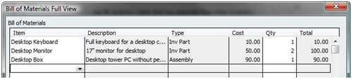 QuickBooks high level assembly