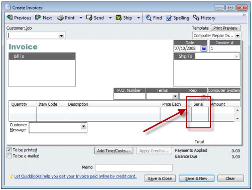 custom fields in quickbooks - practical quickbooks : practical, Invoice templates