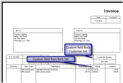 Custom Fields In QuickBooks Practical QuickBooks Practical - Quickbooks invoice templates free download buy online pickup in store
