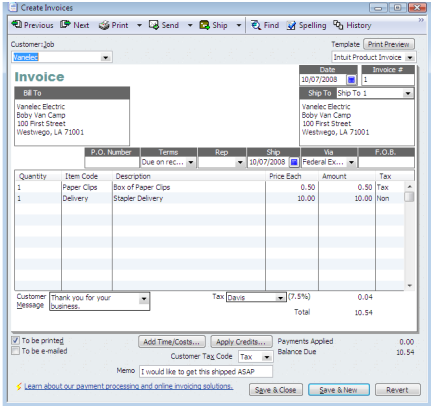 creating quickbooks invoices with adobe acrobat pro - practical, Invoice templates