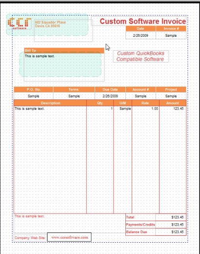 copying quickbooks form templates - practical quickbooks, Invoice examples