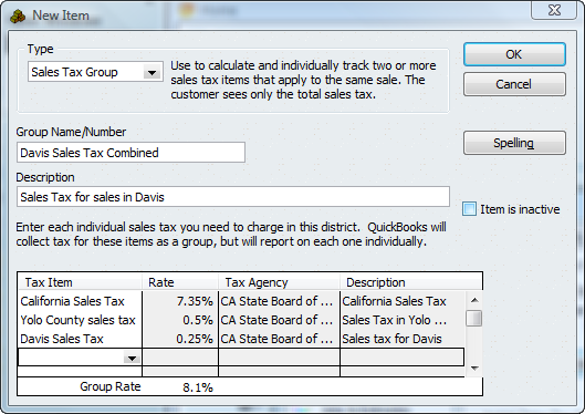 Sales Tax Group