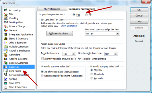 Setting Up Sales Tax In QuickBooks Accountex Report - How to create a new invoice template in quickbooks for service business