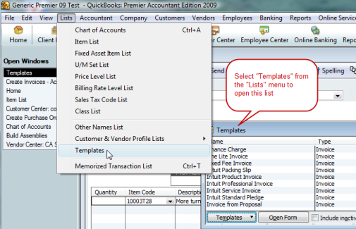 Copying QuickBooks Form Templates Practical QuickBooks Practical - How to create a new invoice template in quickbooks for service business