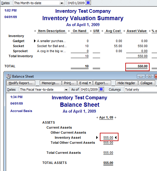 Reconciling QuickBooks Inventory Balances - Practical
