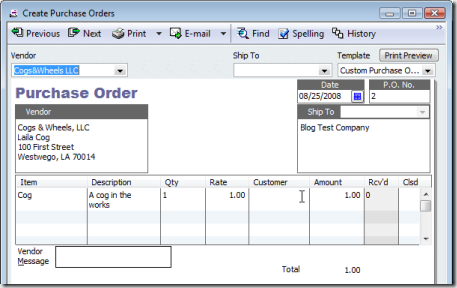 Paying a bill before receiving inventory in quickbooks for Quickbooks sales order template