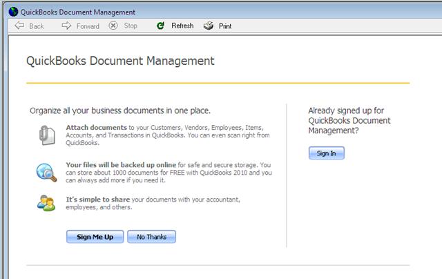 QuickBooks 2010 Document Management - Practical QuickBooks
