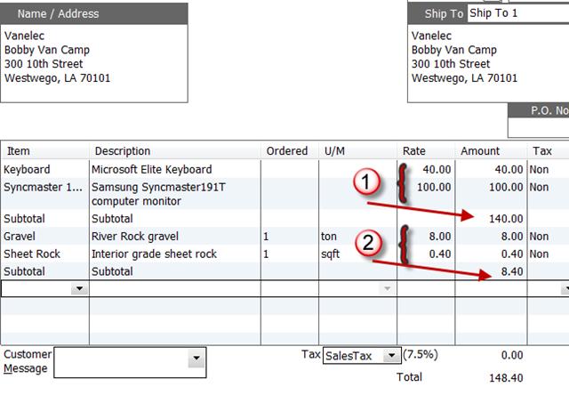 using subtotals in quickbooks orders practical quickbooks practical quickbooks