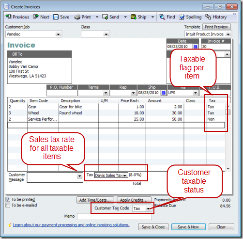 Mixing Sales Tax Rates In A Quickbooks Invoice Practical