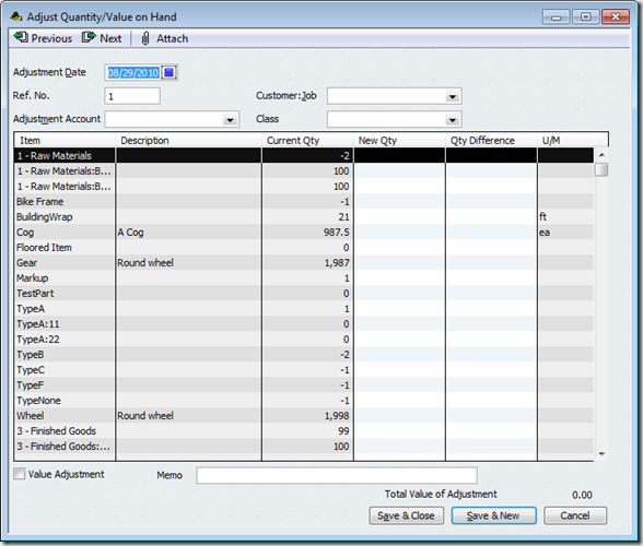 QuickBooks Improved Inventory Adjustments Practical - Quickbooks invoice pending non posting