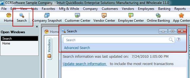 QuickBooks 2011: QuickBooks Search - Practical QuickBooks