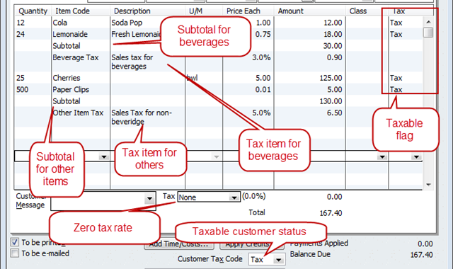 sales tax invoice