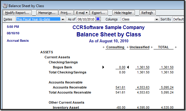 quickbooks premier report writer