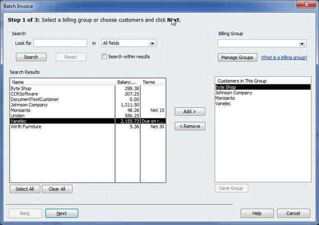 quickbooks 2011 - batch invoicing - practical quickbooks, Invoice examples