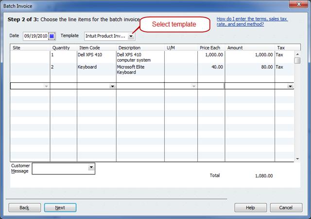 QuickBooks 2011 - Batch Invoicing - Practical QuickBooks ...
