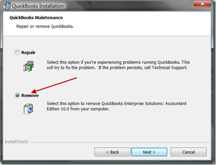 QuickBooks uninstall