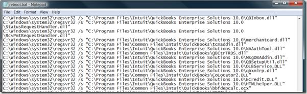 QuickBooks reboot.bat