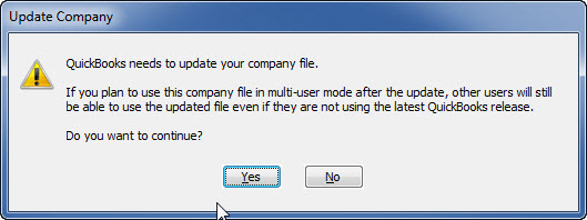 QuickBooks 2011 R4 Warning