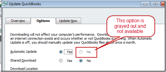 QuickBooks Automatic Update
