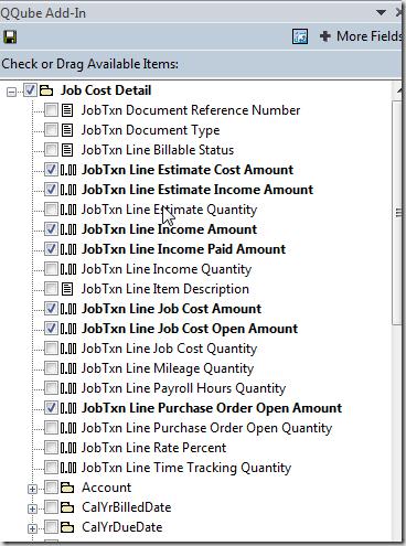 QQube Job Cost