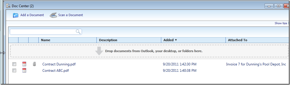 QuickBooks 2012 Doc Center
