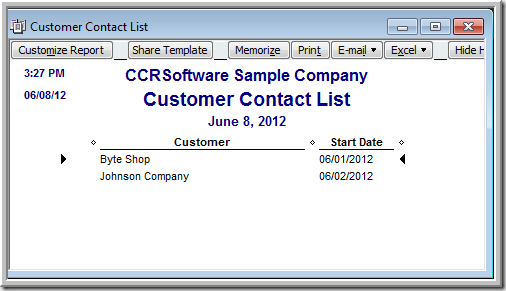 QuickBooks Customers Added by Date